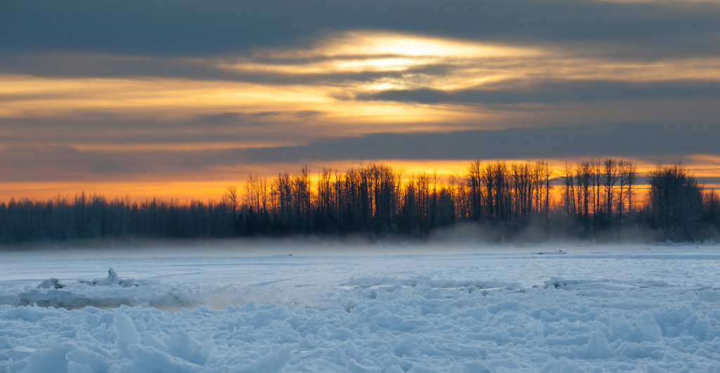 Sunset over Susitna River (near Talkeetna)