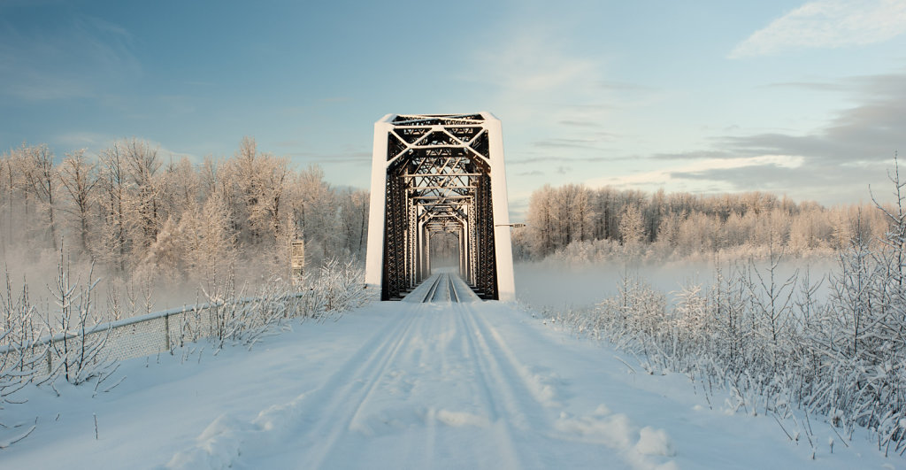 Bridge of the Alaskan Railway over Talkeetna River