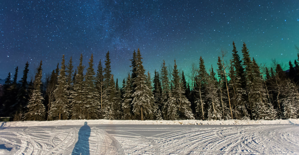 Waiting for the Northern Lights at Denali N.P.