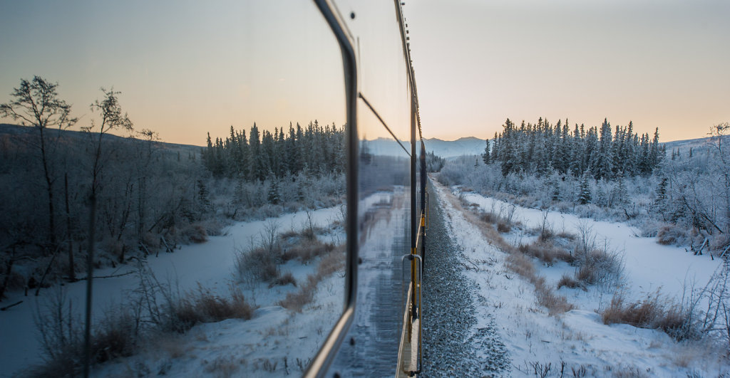 On the tracks between Fairbanks and Anchorage