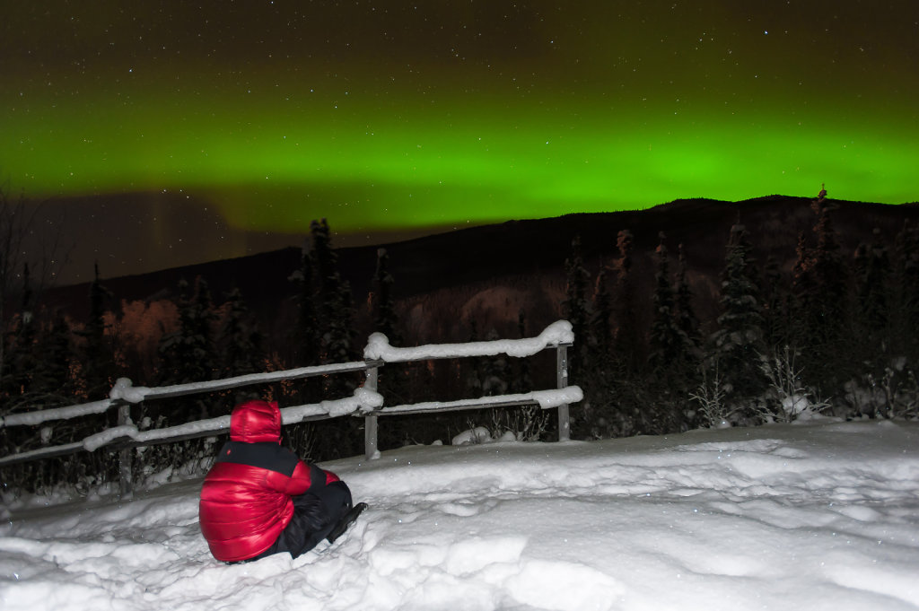 Aurora Borealis in Chena Hot Springs (Alaska / USA)